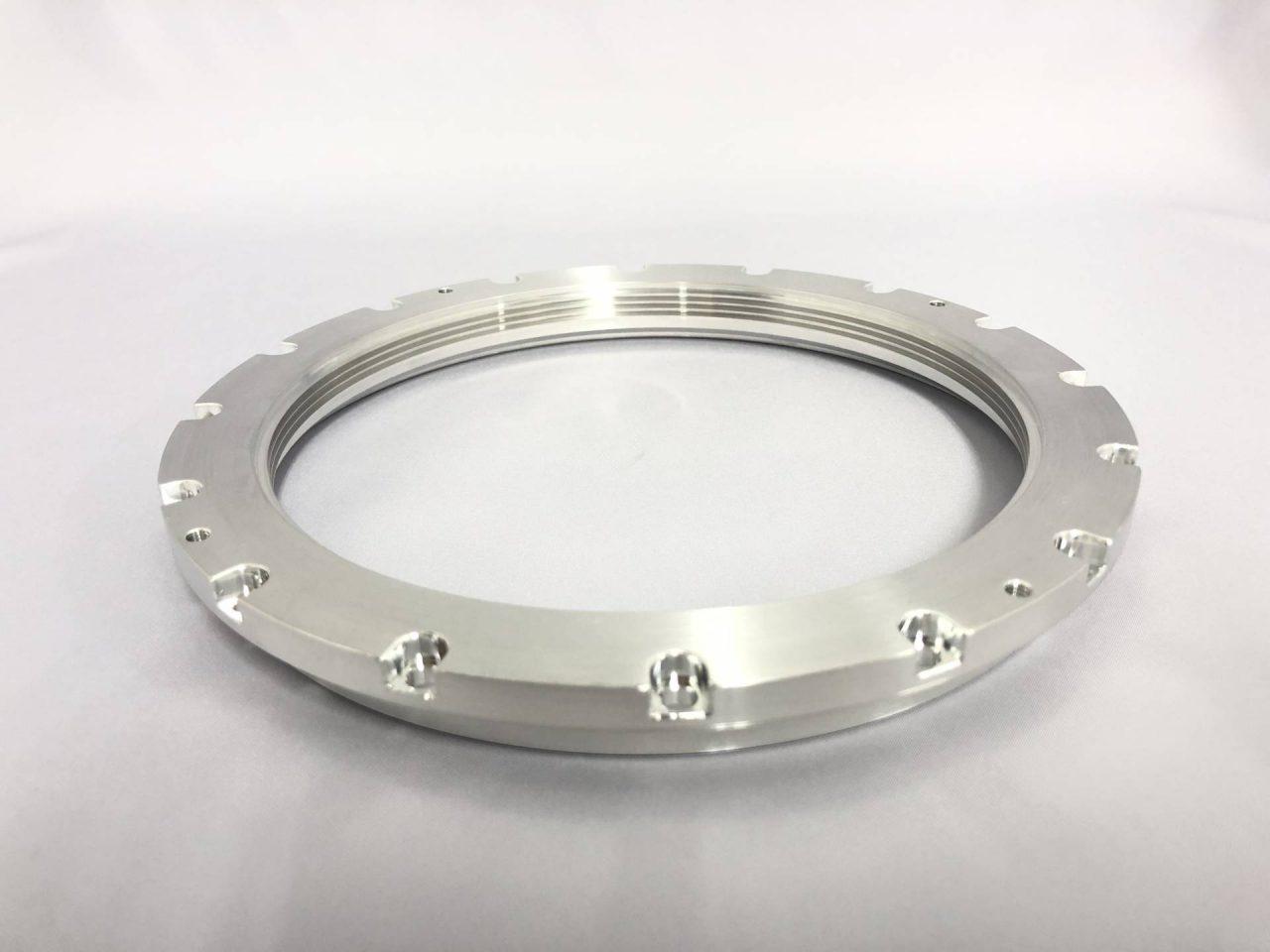 アルミ6061旋盤加工品‐フランジ‐