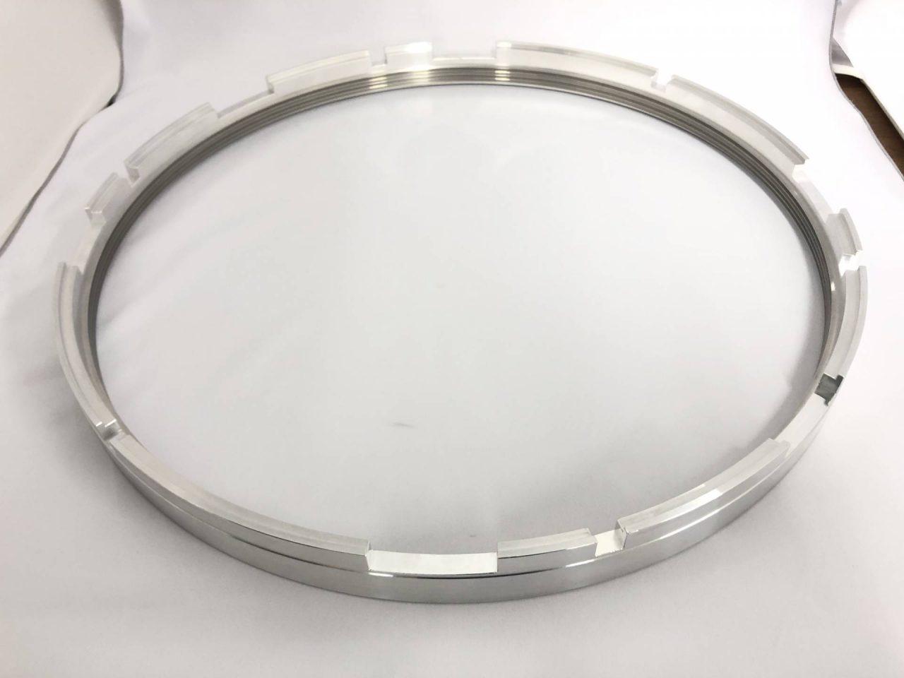 アルミ(A6061)旋盤加工品-薄肉リング-